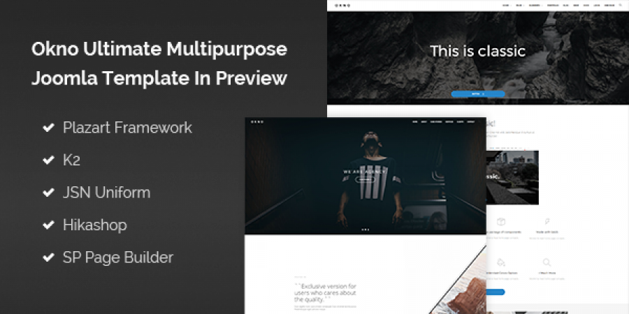 Okno Ultimate Multipurpose Joomla Template In Preview