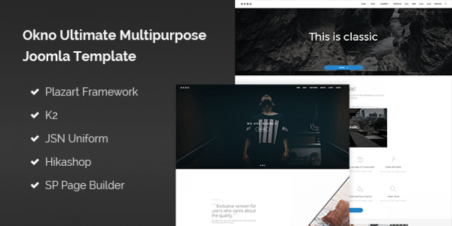Okno Ultimate Multipurpose Joomla Template is released! Let's get 30% OFF for this beautiful template.