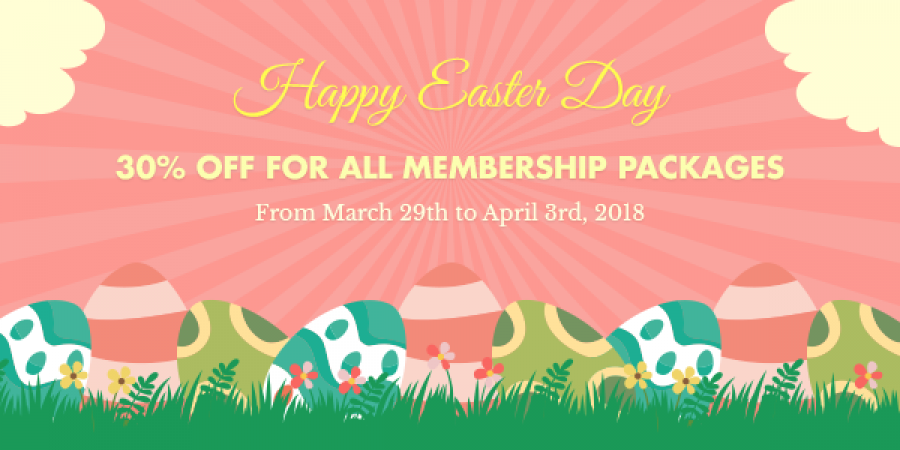30% OFF for all subscriptions on Easter Day 2018