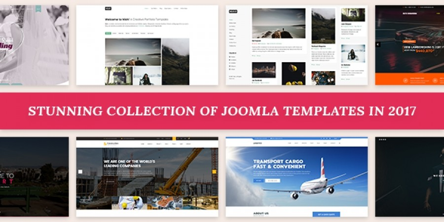 Stunning collection of Joomla templates in 2017