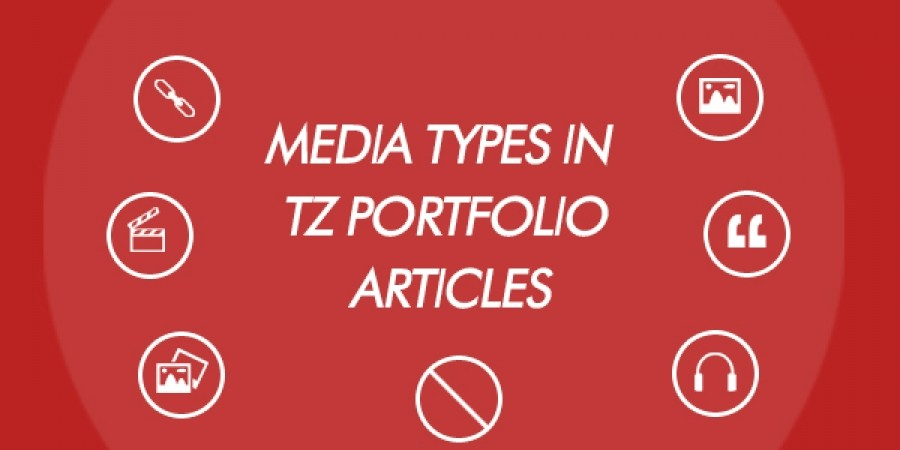 Media Types used in TZ Portfolio Articles
