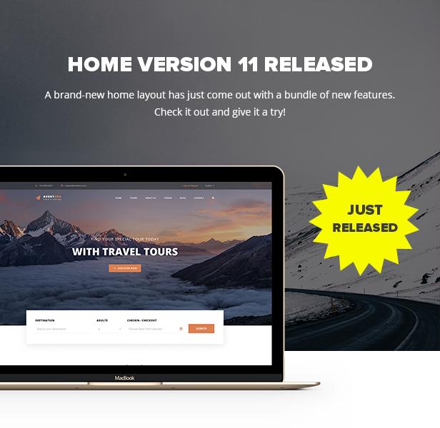 Aventura - Tema de WordPress para el sistema de reserva de viajes y excursiones