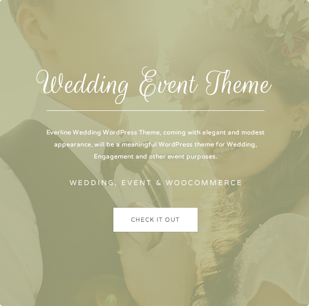 Wedding Event - Everline WordPress Theme - 1
