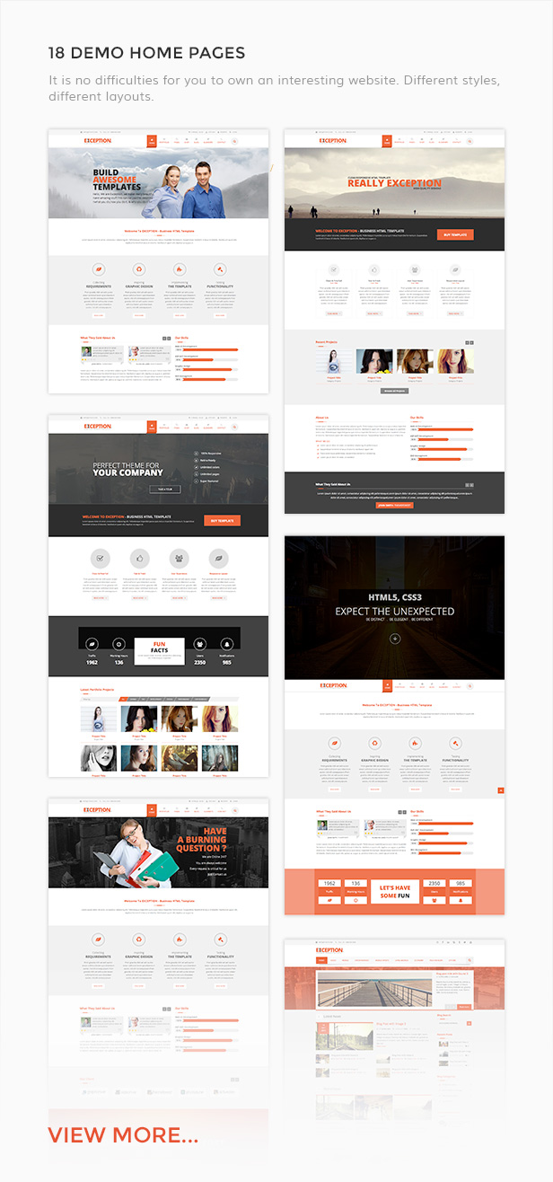 Exception - Multi-Purpose Responsive Joomla Template