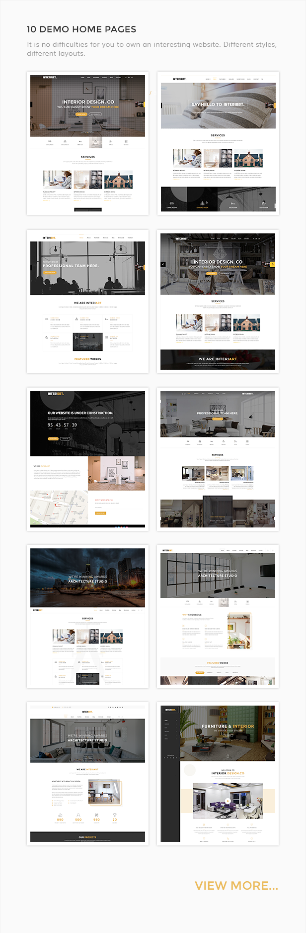 InteriArt - Furniture & Interior WordPress Theme - 4  Download InteriArt – Furniture & Interior WordPress Theme nulled interiart 10homepages