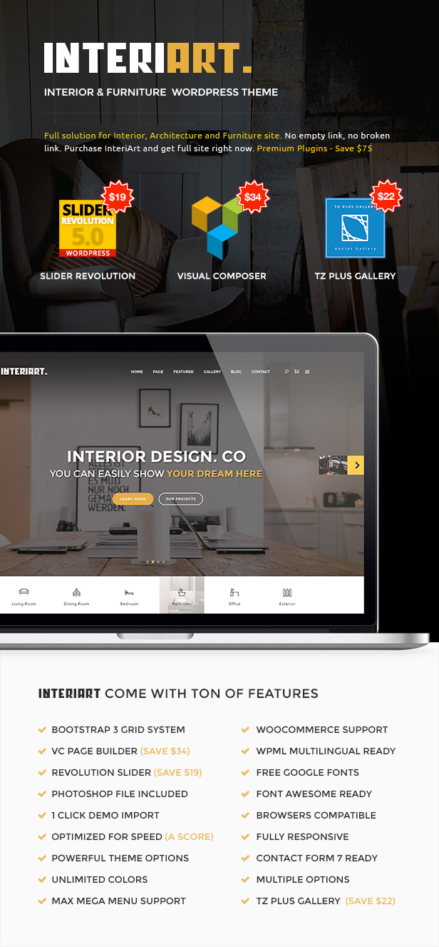 InteriArt - Furniture & Interior WordPress Theme - 2