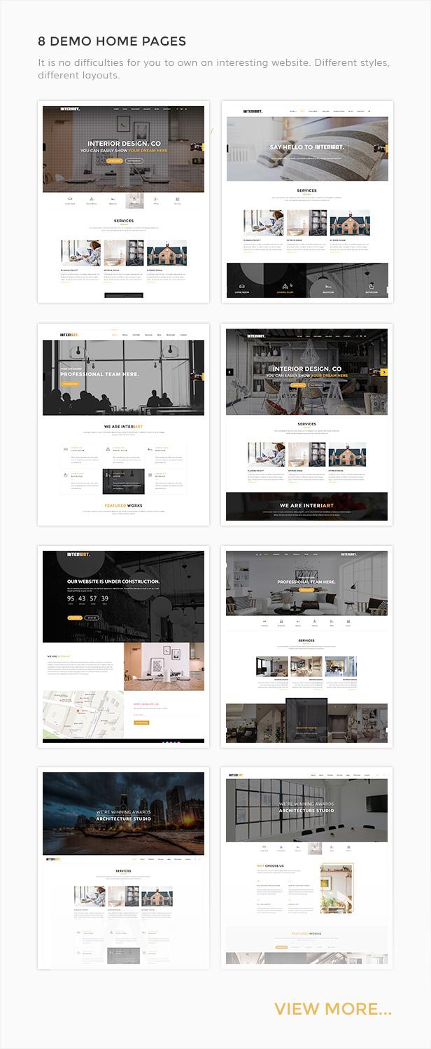 interiart furniture u0026 interior wordpress theme by plazart