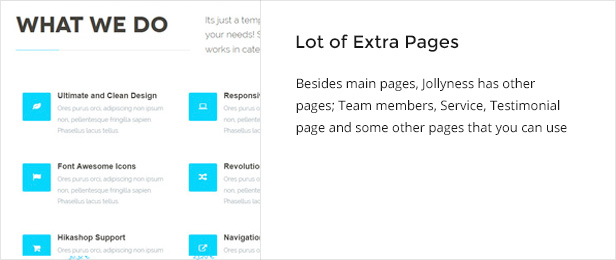 extrapages - Jollyness - Business Joomla Template
