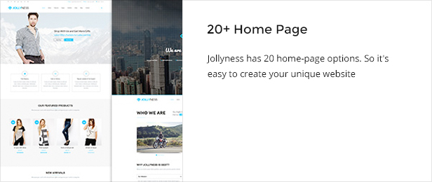 homepage - Jollyness - Business Joomla Template