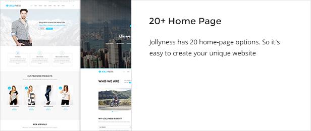 homepage - Jollyness - Business Joomla Template