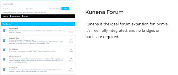 kunena - Jollyness - Business Joomla Template
