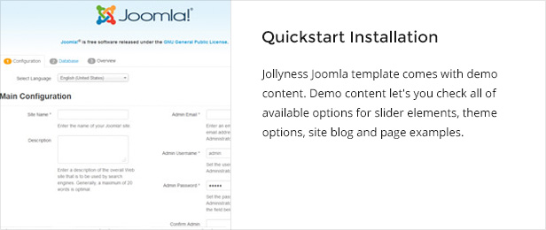 quickstart - Jollyness - Business Joomla Template