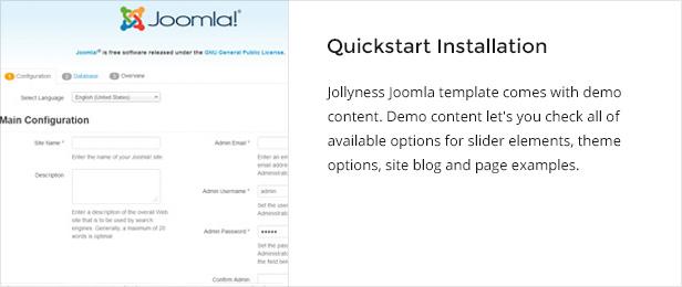 quickstart - Jollyness - Business Joomla Template