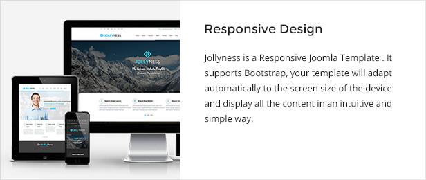responsive - Jollyness - Business Joomla Template