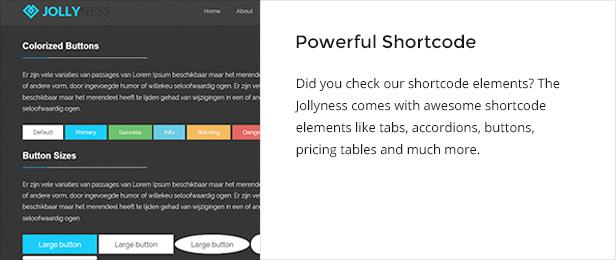 shortcode - Jollyness - Business Joomla Template