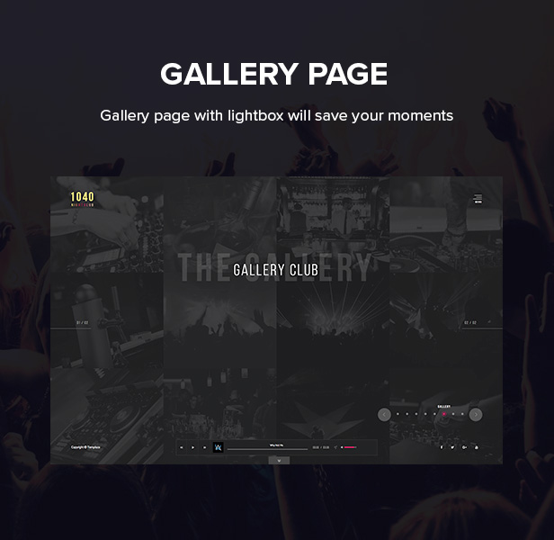 1040 Night Club - DJ, Party, Music Club WordPress Theme