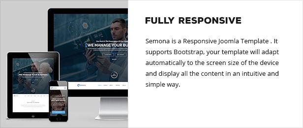 responsive - Semona - Business Joomla Template