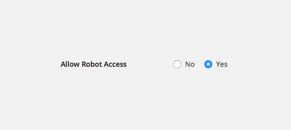 Allow Robot Access
